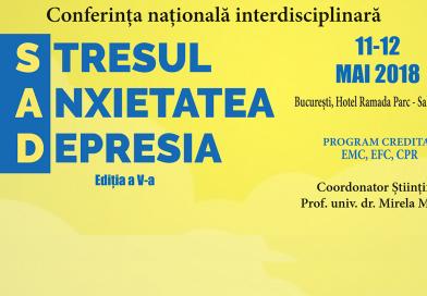 Conferința Stresul, Anxietatea, Depresia, ed. 5