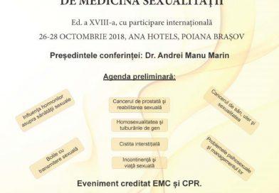 Conferința Națională de Medicina Sexualității, ed. 18, 26-28 octombrie 2018, Poiana Braşov